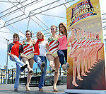 Radio City Rockettes at the Santa Monica Pier California Kick Across America in eight cities across the country, joined by young and the restless star Kate Linder and All my Children stars Stephanie Gatschet and Chrishell Stause August 12, 2010. Photo by @ Fitzroy Barrett