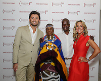 Mario Panzarino, Esther Mahlangu, Isaac Mokwana and Cathy Steen attend the Belvedere (RED) Art Class at Ace Gallery in Los Angeles, CA on September 14, 2016 (Photo by Inae Bloom / Guest of a Guest)