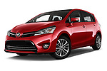 Stock pictures of low aggressive front three quarter view of 2017 Toyota Verso 50th-Anniversary+-PACK 5 Door Mini MPV Low Aggressive