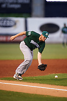 Daytona Tortugas third baseman Gavin LaValley (15) fields a ground ball during a game against the Tampa Yankees on August 5, 2016 at George M. Steinbrenner Field in Tampa, Florida.  Tampa defeated Daytona 7-1.  (Mike Janes/Four Seam Images)