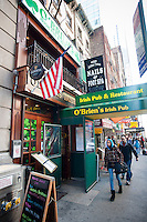 The O'Brien's Irish Pub in Midtown in New York is seen on Saturday, March 5, 2011. In advance for St. Patrick's Day. (© Richard B. Levine)