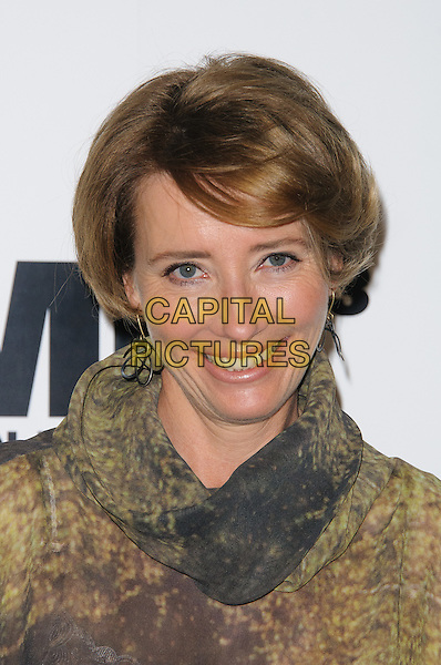 Emma Thompson.The UK photocall for 'Men In Black 3' at the Dorchester Hotel, Park Lane, London, England..16th May 2012.MIB3 III headshot portrait brown black print .CAP/CJ.©Chris Joseph/Capital Pictures.