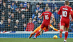 01.02.2020 Rangers v Aberdeen: Sam Cosgrove bears down on Allan McGregor who makes the save