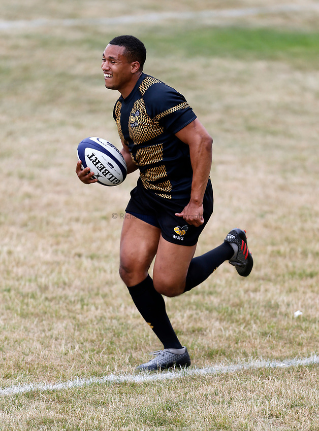 Photo: Richard Lane Photography. Wasps Training. 10/07/2017. Wasps' Marcus Watson.