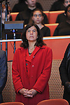 State's Attorney Anita Alvarez enters the stage at the inauguration ceremony of Chicago Mayor Elect Rahm Emanuel and other public officials in Millennium Park in Chicago, Illinois on May 16, 2011.