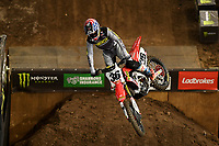 SX1 / RJ Hampshire<br /> Monster Energy Aus-XOpen<br /> Supercross &amp; FMX International<br /> Qudos Bank Arena, Olympic Park NSW<br /> Sydney AUS Sunday 12  November 2017. <br /> &copy; Sport the library / Jeff Crow