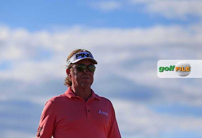 Miguel Angel JIMENEZ (ESP) walks off the 4th tee during Friday's Round 2 of the 2015 U.S. Open 115th National Championship held at Chambers Bay, Seattle, Washington, USA. 6/20/2015.<br /> Picture: Golffile | Eoin Clarke<br /> <br /> <br /> <br /> <br /> All photo usage must carry mandatory copyright credit (&copy; Golffile | Eoin Clarke)