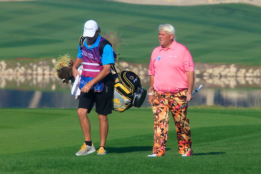 John Daly (USA) in action during the second round of the Commercial Bank Qatar Masters played at Doha Golf Club, Doha, Qatar. 22 - 25th January 2014 (Picture Credit / Phil Inglis)