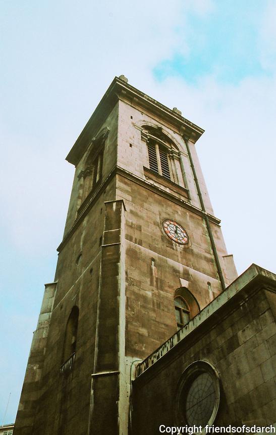 Sir Christopher Wren: St. Andrew Holborn, 1703. Steeple. London.