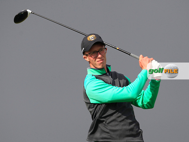 Marc Norton (Belvoir Park) on the 8th tee during Round 3 of the Flogas Irish Amateur Open Championship 2017 at Royal County Down on Saturday 13th May 2017.<br /> Photo: Golffile / Thos Caffrey.<br /> <br /> All photo usage must carry mandatory copyright credit     (&copy; Golffile | Thos Caffrey)