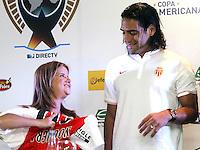 Falcao del Monaco en rueda de prensa en Barranquilla,18-07-2014
