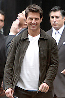 June 12, 2012:  Tom Cruise on the set of the film, Oblivion in New York City. &copy; RW/MediaPunch Inc. NORTEPHOTO.COM<br />