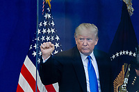 NEW YORK, NEW YORK - NOVEMBER 11: US President Donald Trump the Veterans Day event at Madison Square Park November 11, 2019, in New York, New York.  (Photo by Eduardo Munoz/VIEWpress)