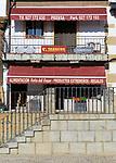Local shop in Plaza Mayor, village of Cuacos de Yuste, La Vera, Extremadura, Spain