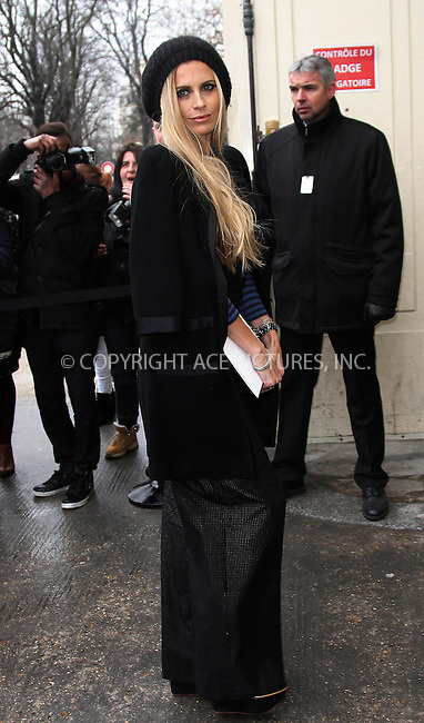 WWW.ACEPIXS.COM....US Sales Only....January 22 2013, Paris....Laura Bailey arriving at Paris Fashion Week on January 22 2013 in Paris, France......By Line: RM/ACE Pictures......ACE Pictures, Inc...tel: 646 769 0430..Email: info@acepixs.com..www.acepixs.com