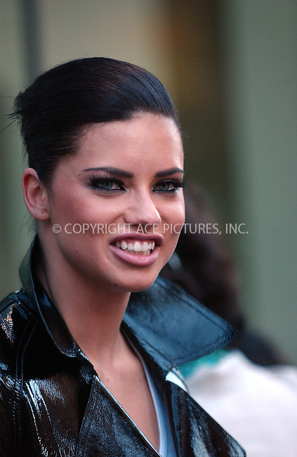WWW.ACEPIXS.COM . . . . . ....July 12 2007, New York City....Model Adriana Lima shot a Maybelline commercial on Madison and 78th St in midtown Manhattan with a pony made-up to look like a zebra. ....Please byline: KRISTIN CALLAHAN - ACEPIXS.COM.. . . . . . ..Ace Pictures, Inc:  ..(646) 769 0430..e-mail: info@acepixs.com..web: http://www.acepixs.com