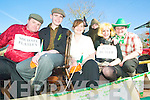 Irish pride: Sean Maloney, Nial and Erin Blunden, Jospehine O'Connor, Jane Wren and Brenda Dillon on the Twohigs Supervalu float in the St Patrick's Day parade on Tuesday.