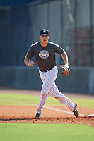 New York Yankees first baseman Chad Bell (2) during an Instructional League intrasquad game on September 27, 2019 at New York Yankees Minor League Complex in Tampa, Florida.  (Mike Janes/Four Seam Images)