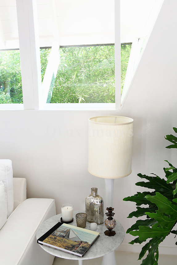 white side table