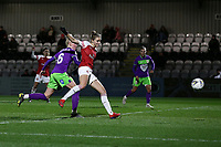 Vivianne Miedema of Arsenal scores the fourth goal for her team during Arsenal Women vs Bristol City Women, FA Women's Super League Football at Meadow Park on 14th March 2019