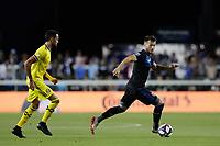 SAN JOSE, CA - AUGUST 03: Vako  during a Major League Soccer (MLS) match between the San Jose Earthquakes and the Columbus Crew on August 03, 2019 at Avaya Stadium in San Jose, California.
