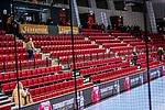 Leere SCHARRena nach Hallenraeumung wegen Feueralarmes beim Spiel TVB 1898 Stuttgart - THW Kiel / DHB Pokal Viertelfinale / HBL / 1.Handball-Bundesliga / SCHARRrena / Stuttgart Baden-Wuerttemberg / Deutschland beim Spiel im DHB Pokal Viertelfinale, TVB 1898 Stuttgart - THW Kiel.<br /> <br /> Foto © PIX-Sportfotos *** Foto ist honorarpflichtig! *** Auf Anfrage in hoeherer Qualitaet/Aufloesung. Belegexemplar erbeten. Veroeffentlichung ausschliesslich fuer journalistisch-publizistische Zwecke. For editorial use only.
