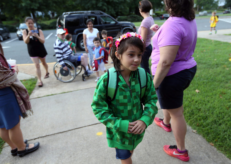 First day of School for Ava in second 2nd grade at Woodbrook Elementary in Albemarle County, Va. Photo/Andrew Shurtleff
