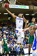 Baltimore, MD - Hofstra Pride guard Juan'ya Green (1) glides through the air as he scores on a lay up against William & Mary Tribe during the CAA Basketball Tournament at the Royal Farms Arena in Baltimore, Maryland on March 6, 2016.  (Photo by Philip Peters/Media Images International)