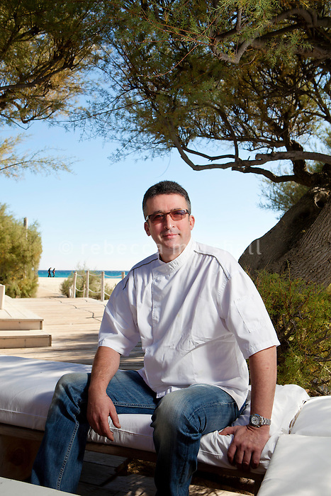 Head chef of Club 55, Laurent Bertolotto,poses for the photographer at Club 55 on Pampelonne Beach, Ramatuelle, near Saint Tropez, France, 16 October 2013