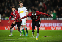 FUSSBALL   1. BUNDESLIGA    SAISON 2012/2013    9. Spieltag   Hannover 96 - Borussia Moenchengladbach         28.10.2012 Mame Diouf (Hannover 96) jubelt nach dem 2:0