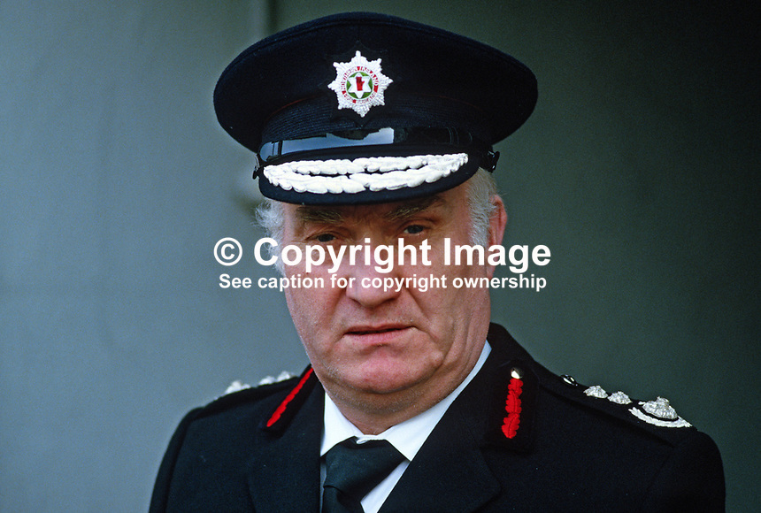 William Beggs, Chief Fire Officer, N Ireland Fire Authority, 19850014WB..Copyright Image from Victor Patterson, 54 Dorchester Park, Belfast, UK, BT9 6RJ..Tel: +44 28 9066 1296.Mob: +44 7802 353836.Voicemail +44 20 8816 7153.Skype: victorpattersonbelfast.Email: victorpatterson@mac.com.Email: victorpatterson@ireland.com (back-up)..IMPORTANT: If you wish to use this image or any other of my images please go to www.victorpatterson.com and click on the Terms & Conditions. Then contact me by email or phone with the reference number(s) of the image(s) concerned.