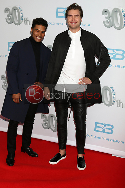 """Rome Flynn, Pierson Fode<br /> at the """"The Bold and The Beautiful"""" 30th Anniversary Party, Clifton's Downtown, Los Angeles, CA 03-18-17<br /> David Edwards/DailyCeleb.com 818-249-4998"""