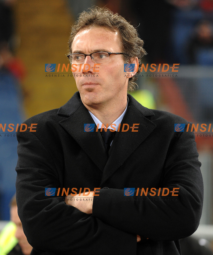 Bordeaux Coach Laurent Blanc <br /> L'allenatore del Bordeaux Laurent Blanc<br /> Roma 9/12/2008 Stadio &quot;Olimpico&quot; <br /> Champions League 2008/2009 <br /> Roma Bordeaux (2-0)<br /> Foto Andrea Staccioli Insidefoto