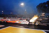 Jun. 1, 2012; Englishtown, NJ, USA: NHRA top fuel dragster driver Clay Millican during qualifying for the Supernationals at Raceway Park. Mandatory Credit: Mark J. Rebilas-
