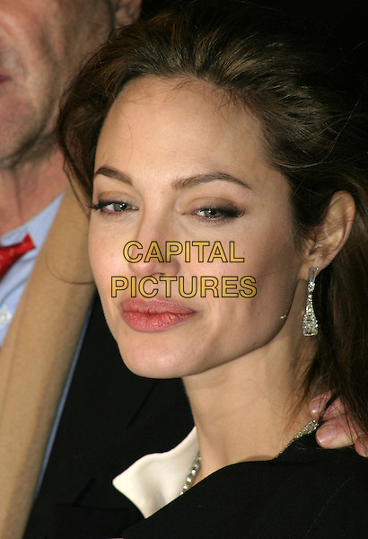 "ANGELINA JOLIE.UK film premiere of ""Alexander"",.Odeon Cinema Leicester Square, London, .January 5th 2004..portrait headshot.Ref: AH.www.capitalpictures.com.sales@capitalpictures.com.©Capital Pictures."