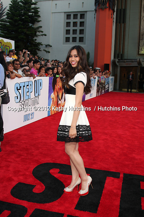 "LOS ANGELES - JUL 17:  Ashley Argota arrives at the ""Step Up Revolution"" Premiere at Graumans Chinese Theater on July 17, 2012 in Los Angeles, CA"