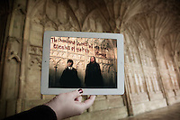 Pictured: Filming of Harry Potter in Gloucester Cathedral with Daniel Radcliffe<br />