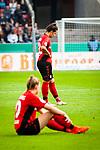 01.05.2019, RheinEnergie Stadion , Köln, GER, DFB Pokalfinale der Frauen, VfL Wolfsburg vs SC Freiburg, DFB REGULATIONS PROHIBIT ANY USE OF PHOTOGRAPHS AS IMAGE SEQUENCES AND/OR QUASI-VIDEO<br /> <br /> im Bild | picture shows:<br /> Lena Lotzen (SC Freiburg Frauen #22) enttäuscht nach der Niederlage im Pokalfinale, <br /> <br /> Foto © nordphoto / Rauch