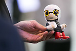 Toyota's Kirobo Mini on display at CEATEC Japan 2016 on October 3, 2016, Tokyo, Japan. CEATEC Japan is a cutting-edge IT and electronics exhibition. This year 648 companies and organisations are taking part from 24 different countries and the show is open to the public from October 4 to 7. (Photo by Rodrigo Reyes Marin/AFLO)