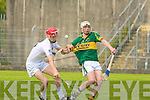 Kerry's Shane Nolan and Kildare's Ross Kelly.