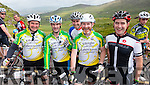 Rory McGillicuddy, John O'Sullivan, Alan Curran, Derry O'Sullivan and Eoin McGillycuddy Killorglin, at the top of Coomakista at the Ring of Kerry cycle on Saturday.