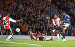 19.09.2019 Rangers v Feyenoord: Sheyi Ojo misses