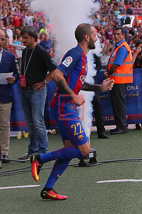 League Santander 2016/2017.<br /> 51e Trofeu Joan Gamper.<br /> FC Barcelona vs UC Sampdoria: 3-2.<br /> Aleix Vidal.