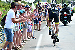 Sylvain Chavanel (FRA) Direct Energie out front alone during Stage 2 of the 2018 Tour de France running 182.5km from Mouilleron-Saint-Germain to La Roche-sur-Yon, France. 8th July 2018. <br /> Picture: ASO/Alex Broadway | Cyclefile<br /> All photos usage must carry mandatory copyright credit (&copy; Cyclefile | ASO/Alex Broadway)