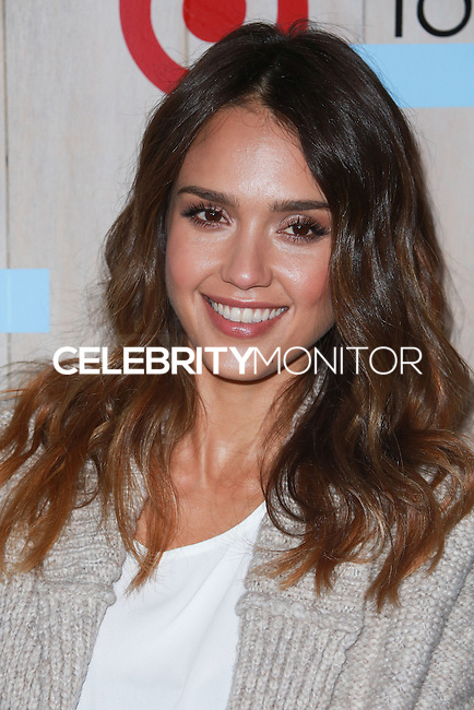 CULVER CITY, LOS ANGELES, CA, USA - NOVEMBER 12: Actress Jessica Alba arrives at the TOMS For Target Launch Event held at the Book Bindery on November 12, 2014 in Culver City, Los Angeles, California, United States. (Photo by David Acosta/Celebrity Monitor)