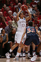 24 March 2008: Cissy Pierce during Stanford's 88-54 win over UTEP in the second round of the NCAA women's basketball championships in Stanford, CA.