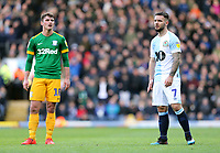 Preston North End's Ryan Ledson (left) and Blackburn Rovers' Adam Armstrong<br /> <br /> Photographer Rich Linley/CameraSport<br /> <br /> The EFL Sky Bet Championship - Blackburn Rovers v Preston North End - Saturday 9th March 2019 - Ewood Park - Blackburn<br /> <br /> World Copyright © 2019 CameraSport. All rights reserved. 43 Linden Ave. Countesthorpe. Leicester. England. LE8 5PG - Tel: +44 (0) 116 277 4147 - admin@camerasport.com - www.camerasport.com