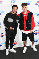 LONDON, UK. June 08, 2019: Jonas Blue and HRVY poses on the media line before performing at the Summertime Ball 2019 at Wembley Arena, London<br /> Picture: Steve Vas/Featureflash