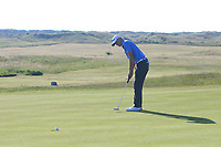 Alex Maguire (Laytown &amp; Bettystown) on the 1st green during Round 2 of the East of Ireland Amateur Open Championship 2018 at Co. Louth Golf Club, Baltray, Co. Louth on Sunday 3rd June 2018.<br /> Picture:  Thos Caffrey / Golffile<br /> <br /> All photo usage must carry mandatory copyright credit (&copy; Golffile | Thos Caffrey)
