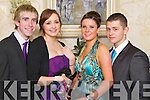 DEBS STYLE: Pictured at the Mounthawk Debs at the Abbeygate on Thursday night are from l-r: David Power, Saoirse Kelly, Rebecca Bentley and Ryan Cox.